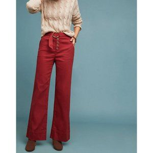 Anthropologie Cassidy Belted Wide-Leg Pants NWOT 6